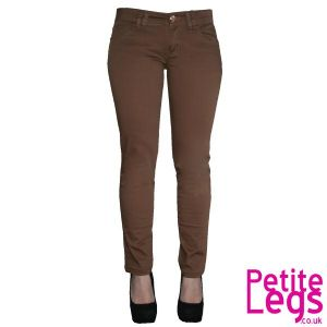 Caggie Skinny Jeans in Camel Brown | UK Size 8-10 | Petite Leg Inseam Select: 25 + 26 inches